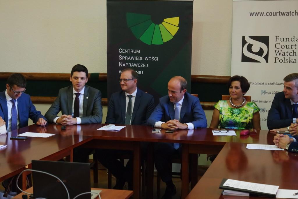 Minister Sprawiedliwości Borys Budka na spotkaniu w Sądzie Okręgowym w Toruniu